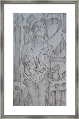 Kisses In The Wind Framed Print by Julie Orsini Shakher