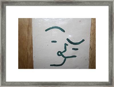 Kisses - Tile Framed Print by Gloria Ssali