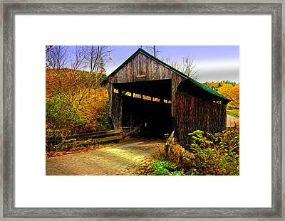 Framed Print featuring the photograph Kissing Bridge by Bill Howard
