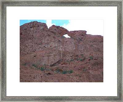 Framed Print featuring the photograph Kissing Camels by Sheila Byers