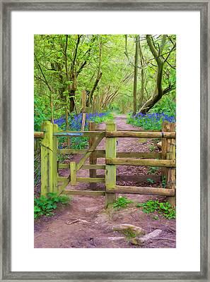 Kissing Gate Painting. Framed Print