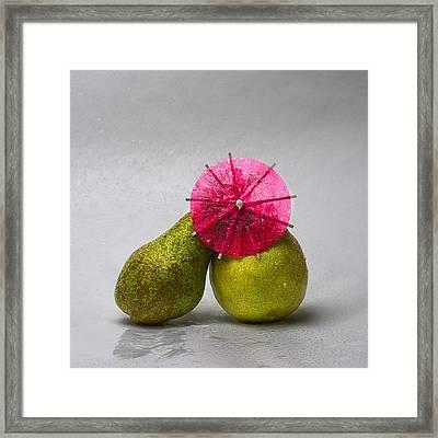 Kissing In The Rain 2 Framed Print by Alexander Senin