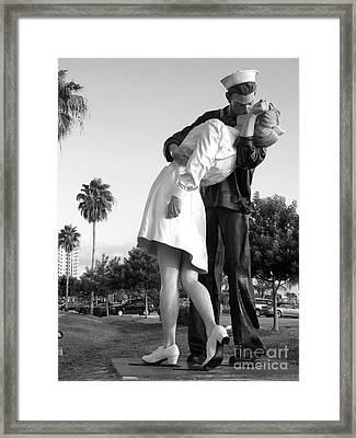 Kissing Sailor And Nurse Framed Print