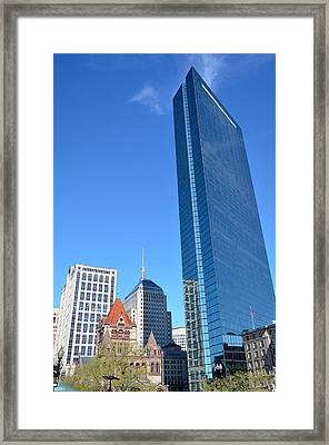 Framed Print featuring the photograph Kissing The Boston Sky by Amanda Vouglas