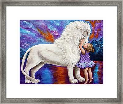 Kissing The King Framed Print by Pamorama Jones