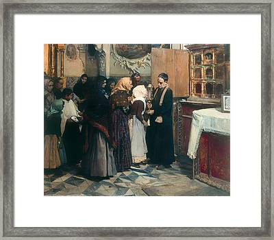 Kissing The Relic Framed Print by Mountain Dreams