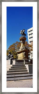 Kit Carson Statue, Pioneer Monument Framed Print