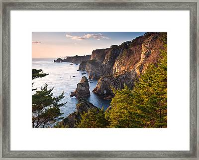 Framed Print featuring the photograph Kitayamazaki Dawn by Brad Brizek