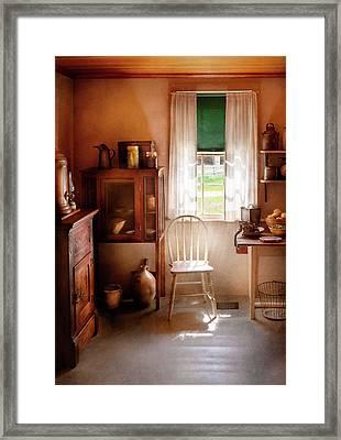Kitchen - A Cottage Kitchen  Framed Print by Mike Savad