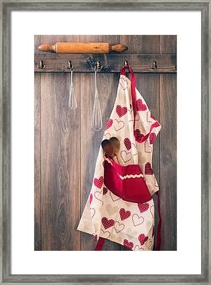 Kitchen Apron Framed Print by Amanda Elwell