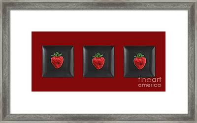 Kitchen Art - Srawberries Framed Print by Aimelle