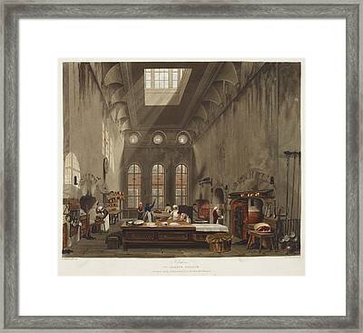 Kitchen At St. James's Palace Framed Print by British Library