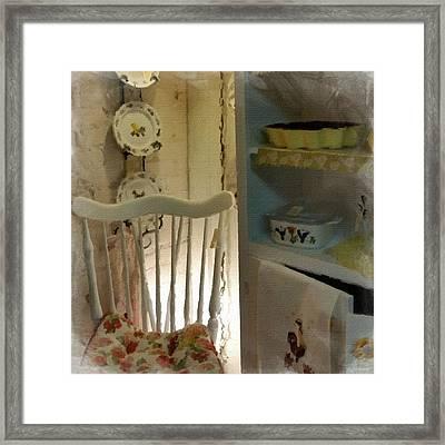 Kitchen Chair Framed Print by Bonnie Bruno