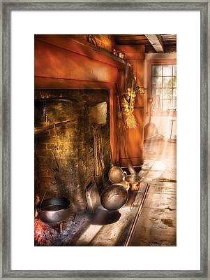 Kitchen -  Colonial Kitchen II Framed Print by Mike Savad