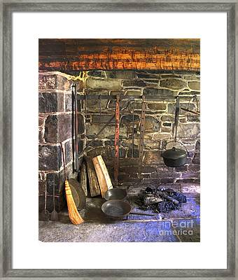 Kitchen - Colonial Pots And Pans Framed Print by Paul Ward