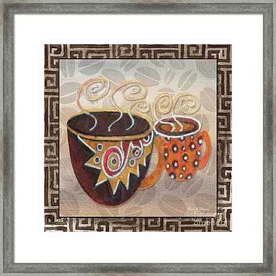 Kitchen Cuisine Hot Cuppa Latte V2by Romi And Megan Framed Print