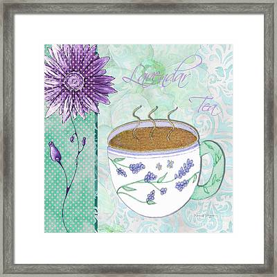 Kitchen Cuisine Hot Cuppa No80 By Romi And Megan Framed Print by Megan Duncanson