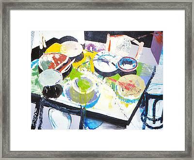 Kitchen Disaster Framed Print by John Castell
