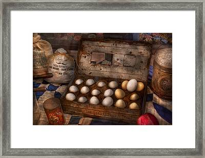 Kitchen - Food - Eggs - 18 Eggs  Framed Print by Mike Savad