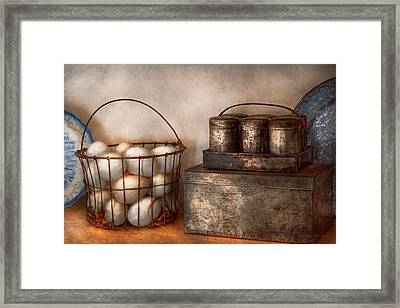 Kitchen - Food - Eggs - Fresh This Morning Framed Print by Mike Savad