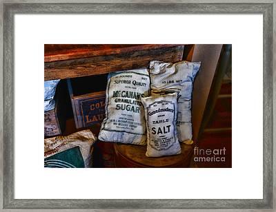 Kitchen - Food - Sugar And Salt Framed Print