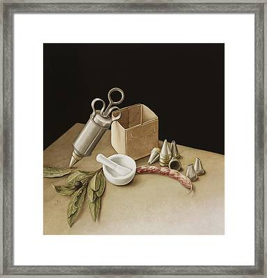 Kitchen Geometry Framed Print by Jenny Barron