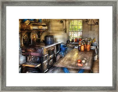 Kitchen - Home Country Kitchen  Framed Print by Mike Savad