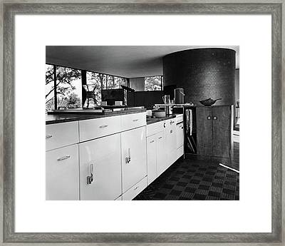 Kitchen Inside A House Designed By Philip C Framed Print by Andr? Kert?sz