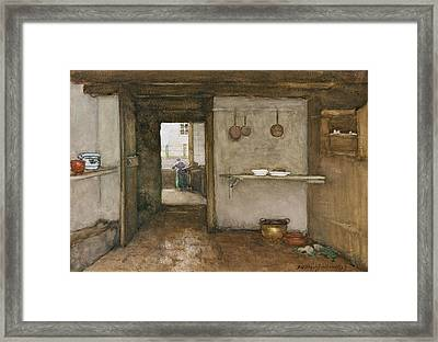 Kitchen Interior, C.1899 Framed Print by Johannes Hendrik Weissenbruch