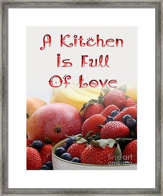 Kitchen Is Full Of Love 16 Framed Print by Andee Design