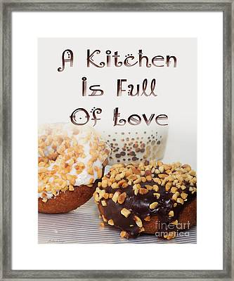 Kitchen Is Full Of Love 18 Framed Print by Andee Design