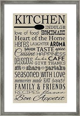 Kitchen Framed Print by Jaime Friedman