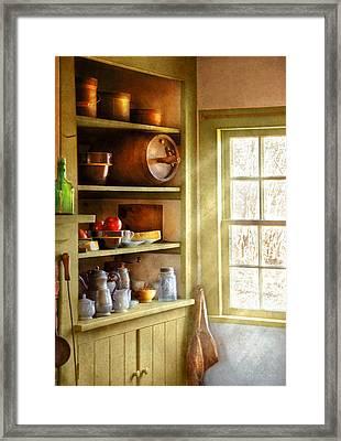 Kitchen - Kitchen Necessities Framed Print by Mike Savad