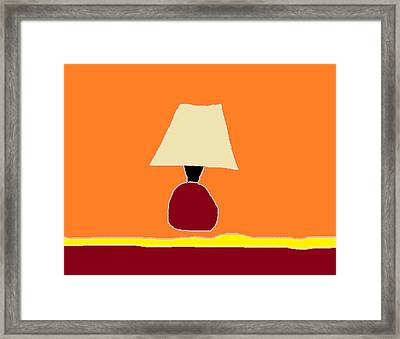 Kitchen Lamp 3 Framed Print by Anita Dale Livaditis