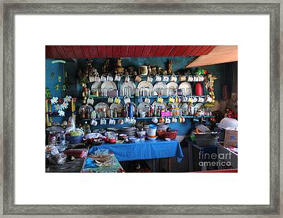 Kitchen Las Conchitas Mexico Framed Print by Linda Queally