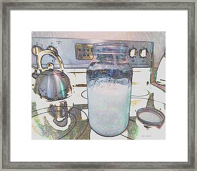 Kitchen Life Framed Print by Aliceann Carlton
