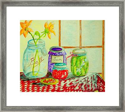 Kitchen Light Dancing Framed Print