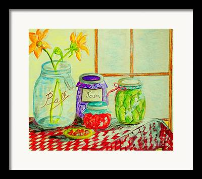 Checked Tablecloths Mixed Media Framed Prints