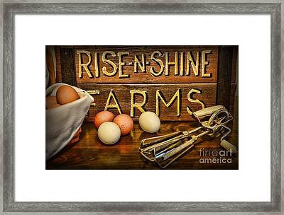 Kitchen  Rise And Shine Framed Print by Paul Ward