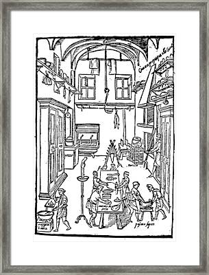 Kitchen Scene, 1605 Framed Print by Granger