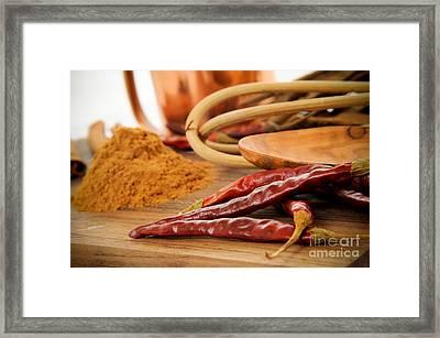 Kitchen Seasonings Framed Print by Jt PhotoDesign