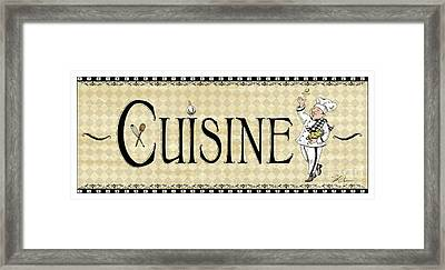 Kitchen Sign-cuisine Framed Print