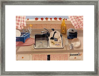 Kitchen Sink Bubba Lees 1997  Skewed Perspective Series 1991 - 2000 Framed Print