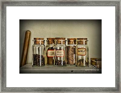 Kitchen Spices Colonial Era Framed Print by Paul Ward