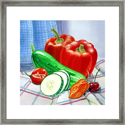 Kitchen Still Life Sweet And Spicy  Framed Print