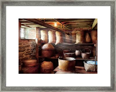 Kitchen - Storage - The Grain Cellar  Framed Print