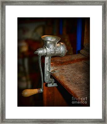 Kitchen - The Meat Grinder Framed Print by Paul Ward