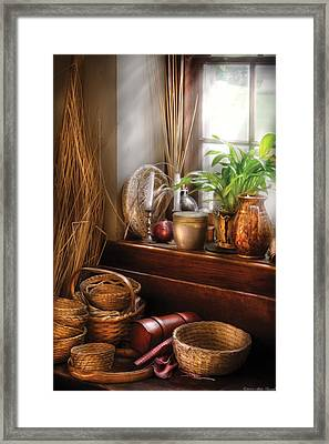 Kitchen - Try To Keep Busy  Framed Print by Mike Savad