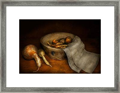Kitchen - Vegetable - A Still Life With Gourds Framed Print by Mike Savad