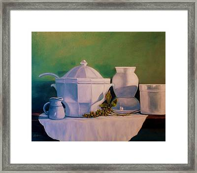 Kitchen Whites Framed Print